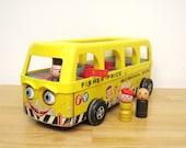 Vintage Fisher Price Safety School Bus