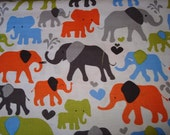 Elephant Walk  Sky  Fabric - by Michael Miller -1 yard