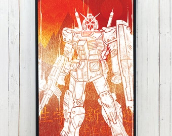 GUNDAM MEGA ROBOT iPhone 6 6S Case - Robot iPhone Case - galaxy s6 galaxy s5