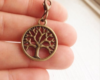 Tree of Life Charm / Charm Bracelet / Planner Charm / Clip on Pendant / Glam Planning Add a Charm / Lobster Clasp