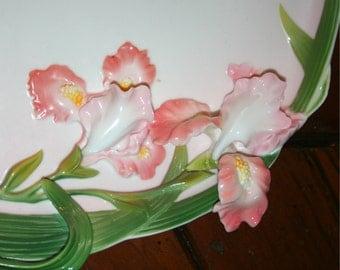 Lillies Artist craft Decorative Gallant Plate Great for Cookie Gift