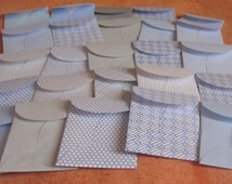 "25 Mini Coin Envelopes - Recycled Security Envelopes - Recycled Mini Coin Envelopes - Tiny Coin Envelopes - 1 3/8"" x 2"""