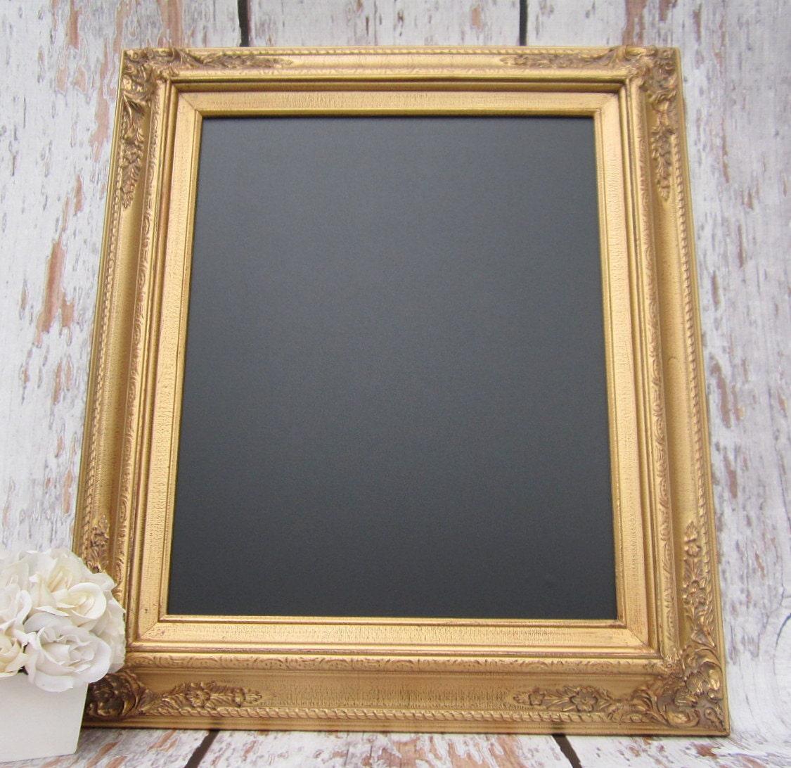 Gold Framed Chalkboard Kitchen Magnetic Memo Board Home Decor