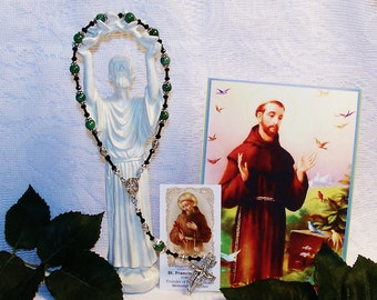 St. Francis of Assisi One-Decade  Catholic Rosary - Patron Saint of Animals, Ecologists, Families and Peace