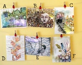 5x7 Art Reproduction - Choose One - Succulent, Isolation, Obsession, Milo, Morning, Noise