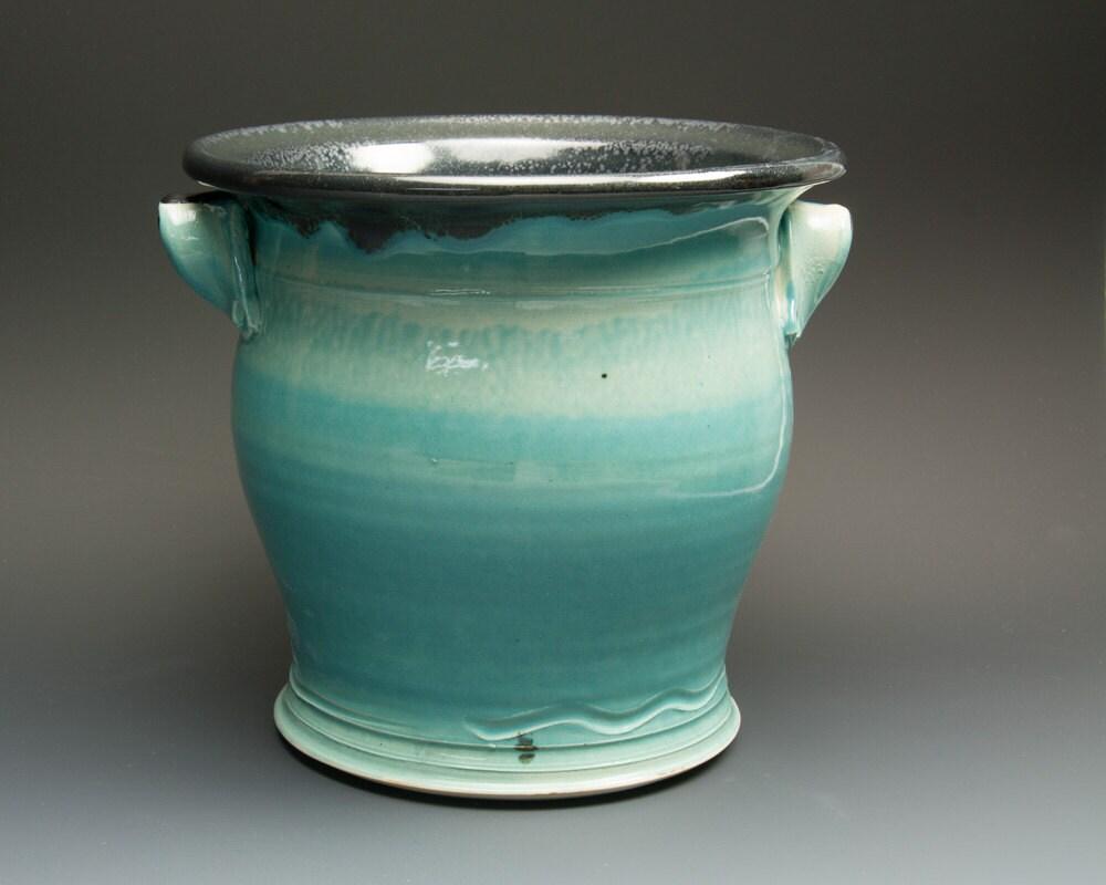 Sale Ceramic stoneware kitchen utensil holder by BlueParrotPots