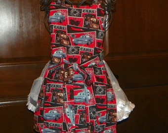 Kids Lined Apron A Style Cars Sizes 7 - 8