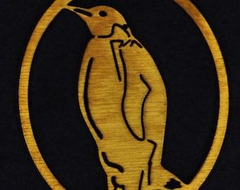 Wood Penguin Ornament
