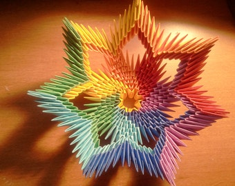 Tutorial: How to make 3d origami Rainbow Bowl