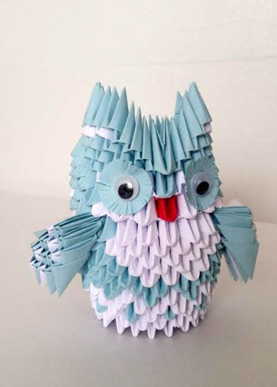 3d Origami owl medium - photo#12