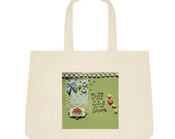 Chocolate Tote Bag in green