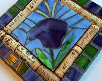 "8""x8"" Trivet Ready to Ship - Mosaic Trivet with Wine Corks"
