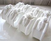 Napkin Rings White Set of 8 Porcelain Flower Table Setting Mix and Match China Wedding Decor from AllieEtCie
