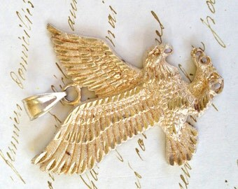 Sterling Silver Eagle Pendant Bird Vintage Jewelry