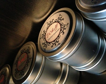 Highly Scented Natural Soy Candle - 6oz Travel Tin