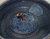 "Pet Fountain, Cat Fountain Food safe, Ceramic - 9.25 Inch Diameter - ""Serenity Starz"""