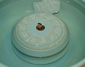 """Cat Fountain - Pet Drinking Fountain -  Indoor Fountain, REDUCED  - 9.25 Inch Diameter  """"Little Leaf"""""""