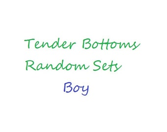 30 Ct. 1 Ply Random Sets of Tender Bottoms Wipes