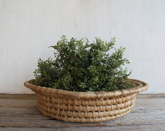 Round Vintage Woven Basket