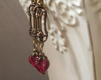 Jane Austen Jewelry - Persuasion - Regency Costume - Janeite - 18th Century - Dainty Earrings - Victorian Earrings - Romantic Earrings