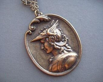 Athena Necklace - Athena Jewelry - Greek Mythology Jewelry - Goddess Necklace - Greek Goddess Jewelry - Symbolic Jewelry - Goddess Athena