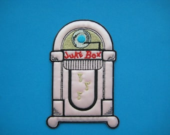 Iron-on Embroidered Patch Classic Juke Box 4.5 inch