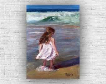 Sea Breeze - Oil Painting Print Home Decor Wall Art Print on Wood Block