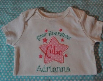 Monogrammed Personalized Patrotic Shirt for Boy or Girl