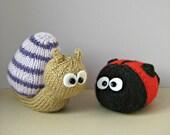Sammy Snail and Lil Ladybug toy knitting patterns