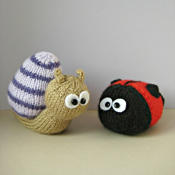 Sammy Snail and Lil Ladybug toy knitting patterns