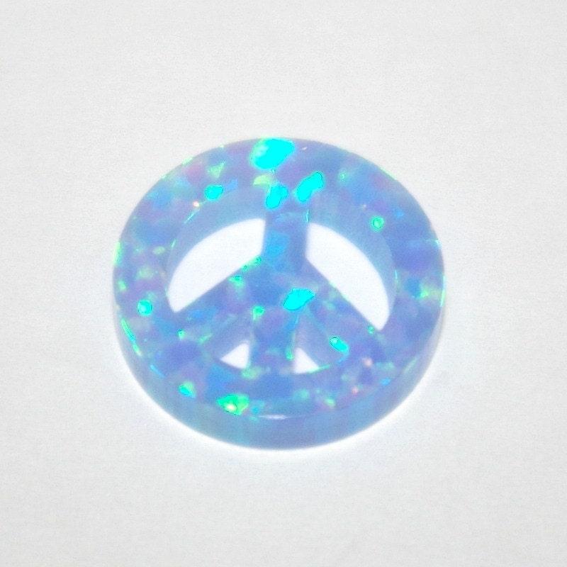 13mm Light Blue OPAL PEACE Sign - 84.3KB