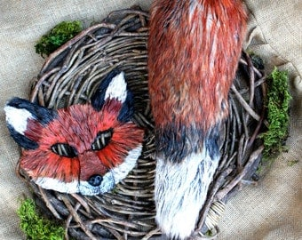 Fox Tail, Tail Only, Handmade, Vegan, faux fox tail, fake fox tail, fox tail, fox costume, animal costume,