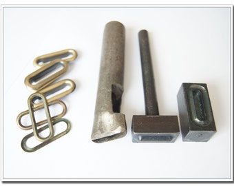 3/4 inch oval Grommet tool, oval eye tool, grommer eyelet setter, oval eyelet setting tools