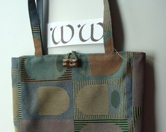 Small Purse Handmade From Recycled Fabric