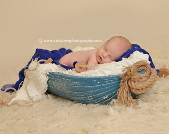 Royal Blue Cheesecloth Baby Wrap Cheese Cloth Newborn Photography Prop