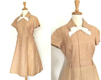 1950s Dress - 50s party dress - full skirt - rockabilly - lucy dress - country wedding - S M