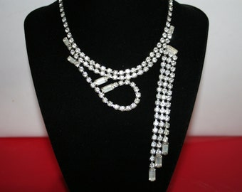 Sparkling Signed Weiss Rhinestone Necklace