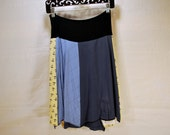 Recycled tee shirt skirt  with yoga pant style waistband size large L0085