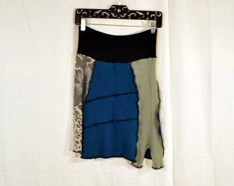 Recycled sweater skirt  small with rayon yoga style waistband S0071