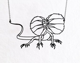 Lizard Necklace, Frill Necked, Dragon, Bearded Dragon