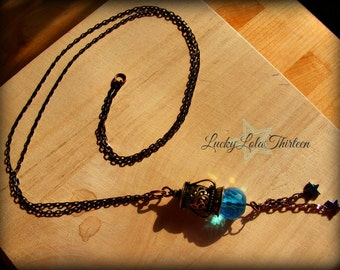 Moon and Stars Lantern Necklace