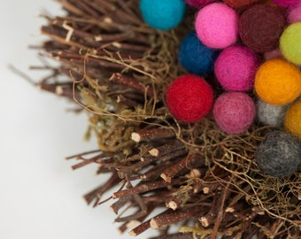 felt balls,15 mm MultiColor more than 45 different colors