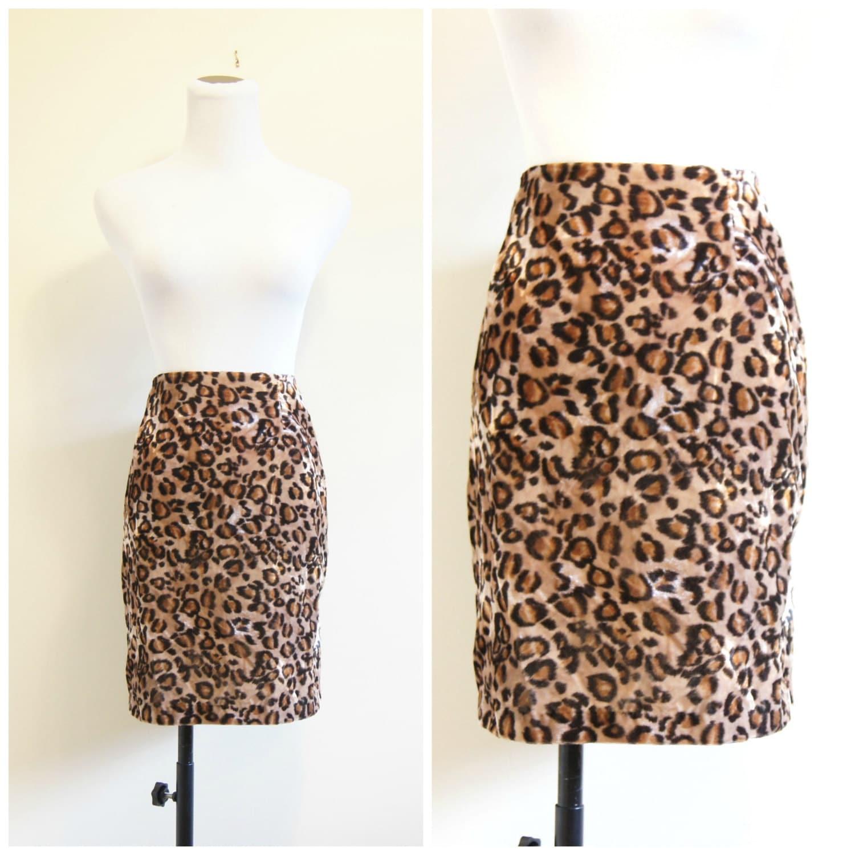 90s velvet leopard print mini skirt large xl high waisted