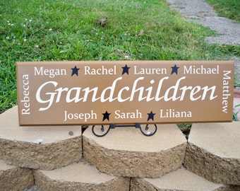Personalized Grandmother Gift, Personalized Grandchildren Sign, Personalized Name Sign, Grandma Sign, Grandma Gift, Grandmother, Grandpa