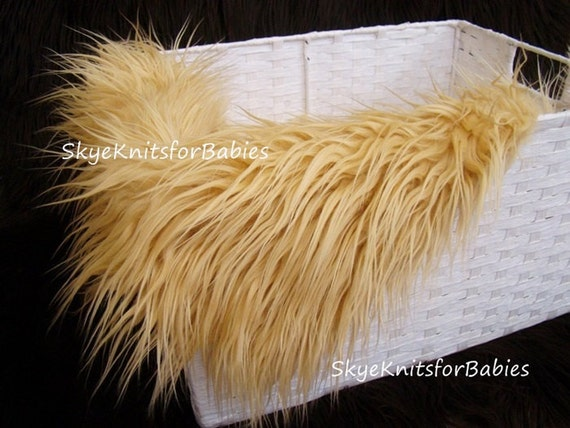 chameau mongol fausse fourrure poil long tissu 18 x 30. Black Bedroom Furniture Sets. Home Design Ideas