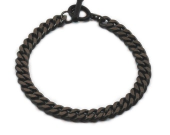 Mens Bracelet Black Chain Bracelets Jewelry for Men
