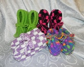 Knitted slipper order for amandareisner1