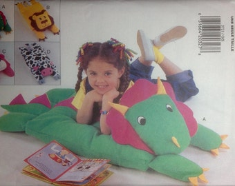 Animal Pillow Shams Covers Sewing Pattern Lion Cow Dinosaur Bear Floor Pillows