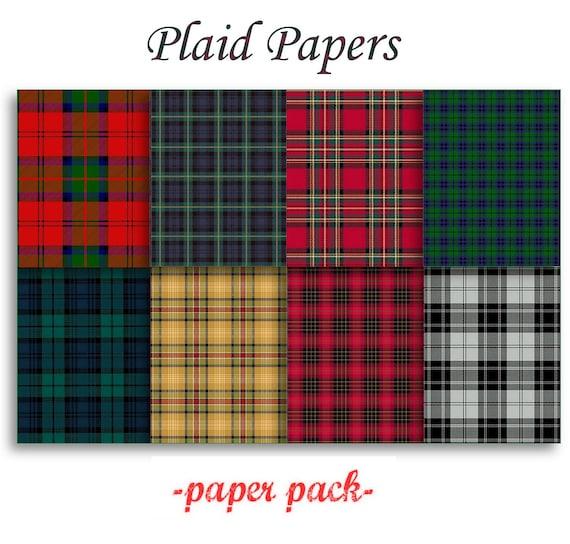 Christmas Plaid Papers Scottish Tartans And Xmas Plaids
