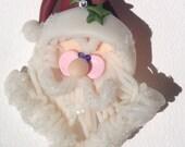 Snow Santa Pin by Kim Lugar
